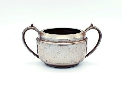Arts & crafts 1900's small pewter sugar bowl. Lovely condition