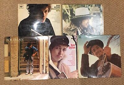 Bob Dylan - Job Lot Collection of 5x Vinyl LPs EX/VG Inc Greatest Hits, Desire