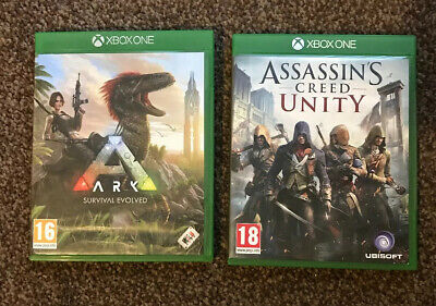 Xbox One Games Ark Survival Evolved And Assassins Creed Unity