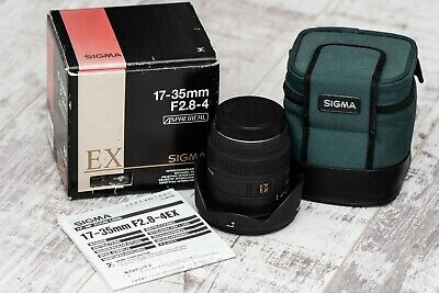 Sigma EX 17-35mm F2.8-4 DG HSM Canon EF Wide Angle Lens with extras! PleaseRead!