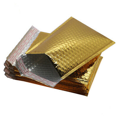 CD DVD Gift Shiny Metallic Foil Bubble Wrap Lined Padded Mailing Bags Envelopes