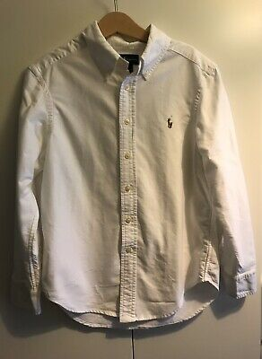 Ralph Lauren Polo Boys White Shirt Age 8
