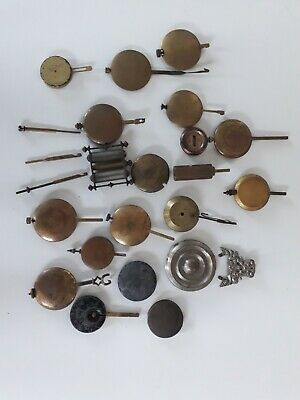 Large Collection of Antique Clock Pendulums/Bobs and Rods