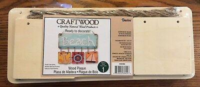 Darice Wood Plaque, Craftwood, Ready to Decorate Set