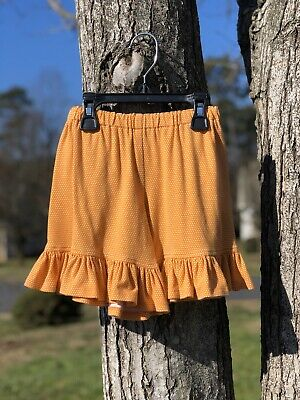 NWT Persnickety Orange With White Dot Shorts Girls sz 3T.