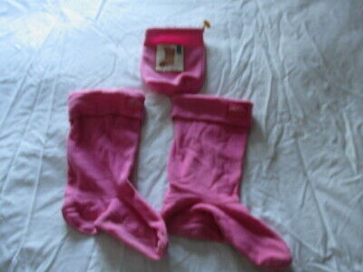 Joules Junior Welly Warmers Hot Pink Large In Original Pouch