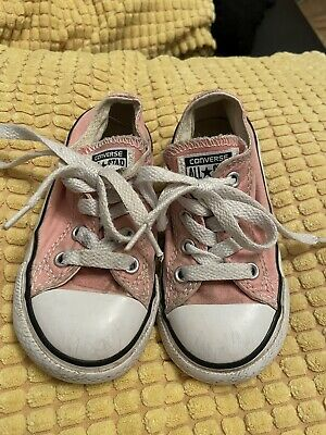 Girls Pink Converse Infant Size 7