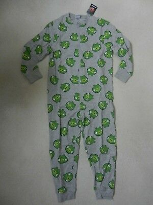 BNWT Next Boys Angry Birds Green Pig PJ's All In One Pyjama's Age 7 Years