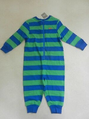 BNWT Next Boys Bright Green & Blue PJ's All In One Pyjama's Playsuit 2-3 Years