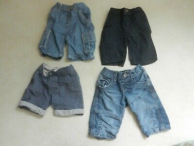 4 Piece Boys Shorts Bundle 2-3 Years Matalan M&S Indigo Denim Cotton Blue