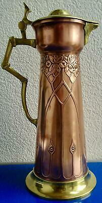 Exceptional Secessionist Art Nouveau Copper Jug, Pitcher