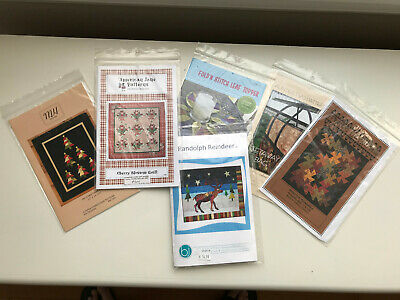 6 New Quilting Patterns//Uncut//Sewing Quilting Project Supplies//Various Design