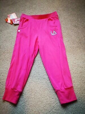 BNWT LA gear trousers cropped Girls Pink 9-10 Years