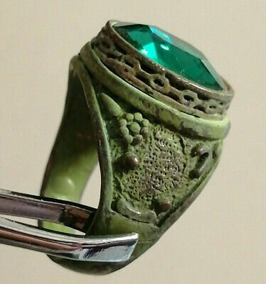 Ancient Roman Metal Color Silver Ring with Stone Amazing Piece Wonderful