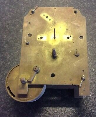Antique Fusee Clock  Movement For Spare Parts Or Repair