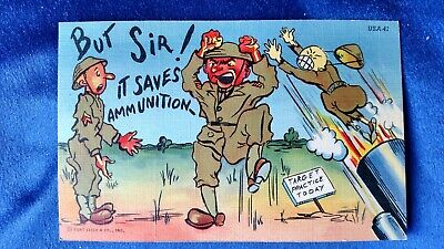 World War II ANTI JAPANESE PROPAGANDA Postcard.  Excellent condition.