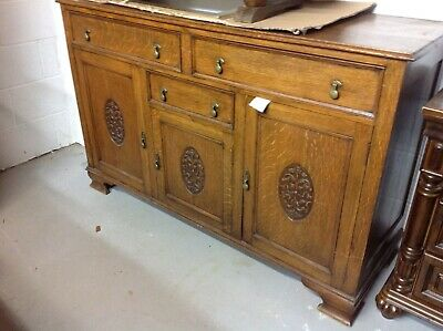 Antique Arts and Crafts Buffet Sideboard Dresser Base