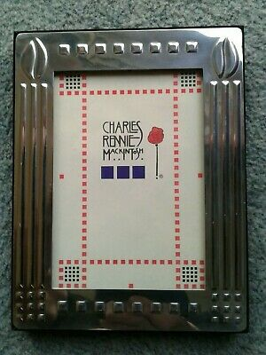 Vintage Charles Rennie Mackintosh Style Metal Picture Frame Glasgow Style