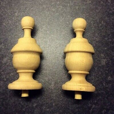 Pair Of Wooden Finial Clock Knobs