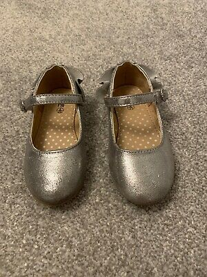Baby Girl Silver Shoes Mothercare Size 6