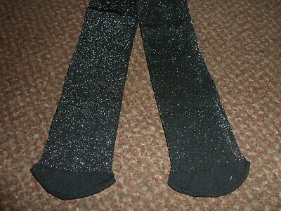 new Girls TU black glitter / sparkly party Tights 9-10 years - BNWOT