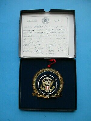 White House Historical Association Ornament 1989 Presidential Bicentennial