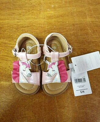 Kids Girls Size 4 Unicorn Sandals from Mothercare NEW