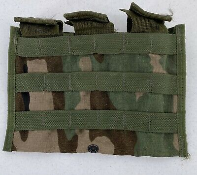 MOLLE II Triple Mag Magazine Pouch Woodland Rifleman Army Surplus US Military