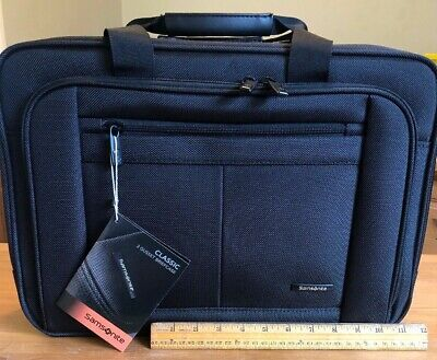 """Samsonite Classic Business """"3 Gusset Briefcase"""" New"""