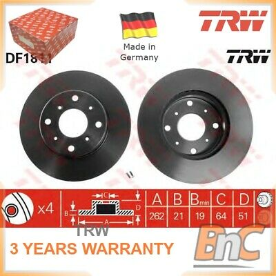 Fits MG MG3 1.5 Genuine OE Quality Apec Front Vented Brake Discs Set Pair