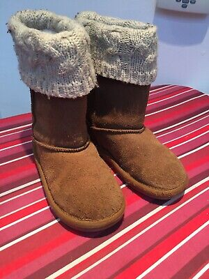 Girls Brown Next Style Ugg Boots Size 10 Great Condition