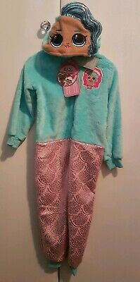 BNWT LOL Surprise Doll Girls All In 1 SPLASH QUEEN Pyjamas Age 4-5 Year Primark