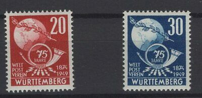 FRANCE OCCUPATION ZONES, WURTTEMBERG, STAMPS, 1949, Mi. 51-52 **