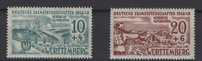 FRANCE OCCUPATION ZONES, WURTTEMBERG, STAMPS, 1949, Mi. 38-39 x **