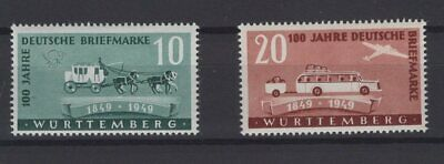 FRANCE OCCUPATION ZONES, WURTTEMBERG, STAMPS, 1949, Mi. 49-50 **