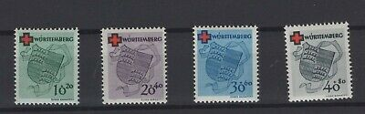 FRANCE OCCUPATION ZONES, WURTTEMBERG, STAMPS, 1949, Mi. 40-43 **
