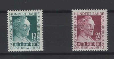 FRANCE OCCUPATION ZONES, WURTTEMBERG, STAMPS, 1949, Mi. 47-48 **