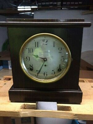 Antique 1913 Seth Thomas 8 day Mantle clock Dana #1 ** UNIQUE DIAL **