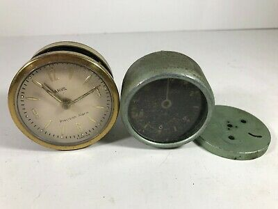 Vintage Alprosa Swiss Made & Anvil Clock Movement / Face Parts <Hm07 (Qa3) /K3