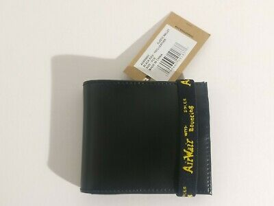 Dr. Martens Elastic Kiev Black Bi-fold Leather Wallet Brand New with Tags