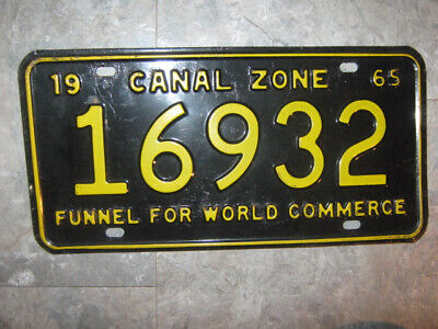 1965 Canal Zone Panama License Plate