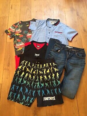 Bundle Boys Clothes Age 13 Years Jeans Tops Swimming Shorts Tu Matalan VGC