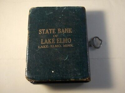 Lake Elmo, Minnesota , State Bank of Lake Elmo book style savings bank w key