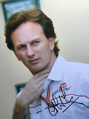 Signed Formula One Photograph Of Christian Horner