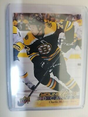 17-18 Series 1 Charlie McAvoy Young Guns Canvas Rookie 2017-18 Upper Deck