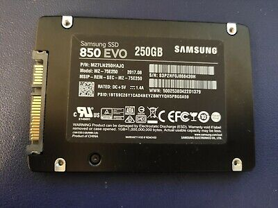 "Samsung 850 EVO 250GB Internal 2.5"" (MZ-75E250) SSD"