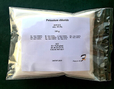 Potassium chloride (E508) - 99.5% pure p.a powder