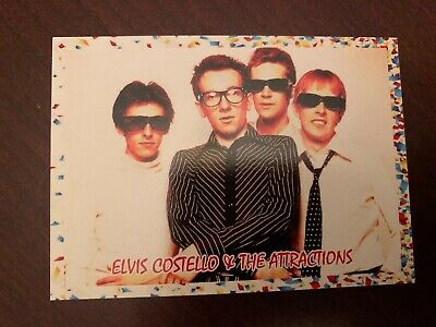 Elvis Costello and the Attraction J2 Classic Rock Cards 2019 non sport card set