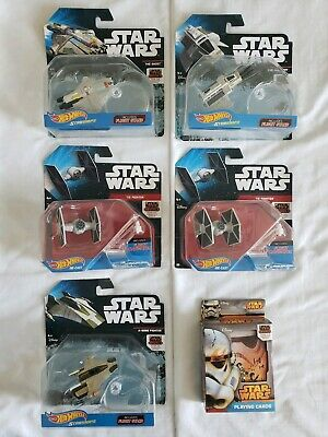 NEW 5 Hot Wheels STAR WARS Die-Cast REBELS Series Starships LOT