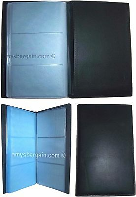 Lot of 3 new 60 to 120 business card credit IDs Black leather card holder BNWT*